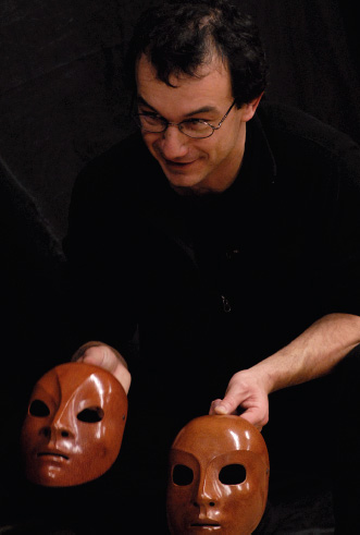 giovanni fusetti with neutral masks